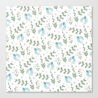 Fun Summer Flower Pattern Canvas Print