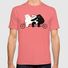 Family Time Mens Fitted Tee Pomegranate SMALL