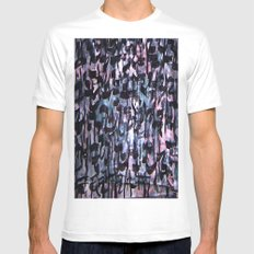 GLYPHS OF XANADU4 SMALL White Mens Fitted Tee