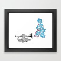 cornet. Framed Art Print