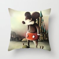 Mickey's Kingdom Throw Pillow