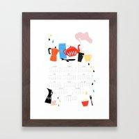 Calendar 2014 Framed Art Print