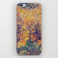 Autumn Woods Abstract -- Colorful Foliage iPhone & iPod Skin