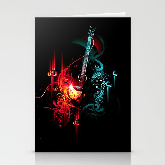 Music Stationery Card