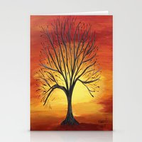 Fiery Sky Stationery Cards