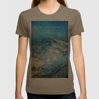 Adventure. The mountains are calling, and I must go. John Muir. Womens Fitted Tee Tri-Coffee SMALL