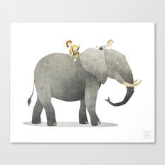Wild Adventure - Elephant Canvas Print