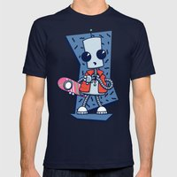 Ned the Time Traveller (1985) Mens Fitted Tee Navy SMALL