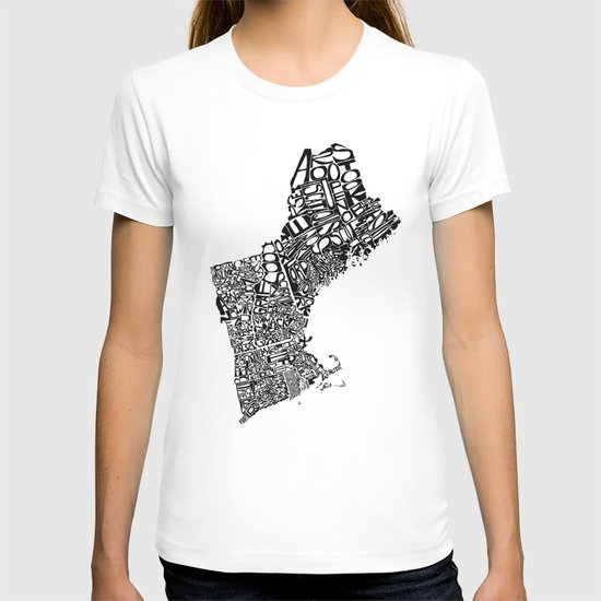 Typographic New England T-shirt