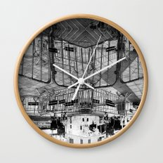 Summer space, smelting selves, simmer shimmers. 28, grayscale version Wall Clock