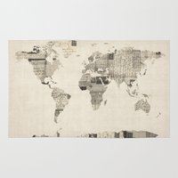 Map Of The World Map Fro… Rug