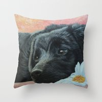 The most beautiful eyes Throw Pillow