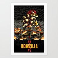 BOWZILLA Art Print