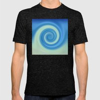 Wave Mens Fitted Tee Tri-Black SMALL