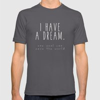 I HAVE A DREAM - soul - black Mens Fitted Tee Asphalt SMALL