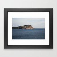 Greek seascape - landscape photography poster - Cape Sounio - Greece Framed Art Print