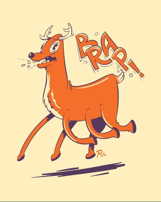Mutant Deer Art Print