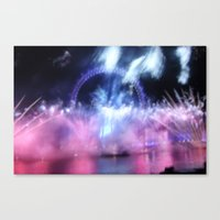 New Year's Eve At London… Canvas Print