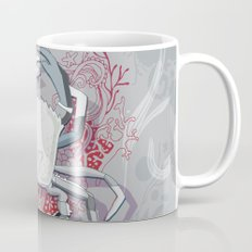 Crab tangling, simple grey Mug
