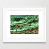 Greenish Land Framed Art Print
