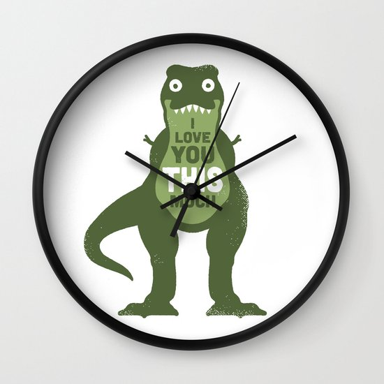 Amourosaurus Wall Clock