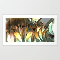 Crystal caves Art Print