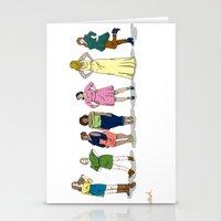 Fashion Line Up Stationery Cards