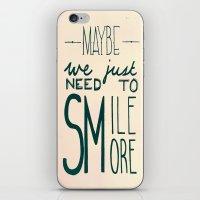 Smile More iPhone & iPod Skin