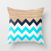Chevron & Wood Throw Pillow