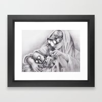In Which Robo-Jesus Is A… Framed Art Print