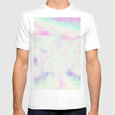 Hazed SMALL Mens Fitted Tee White