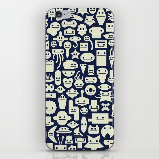 Shapes With Faces iPhone & iPod Skin