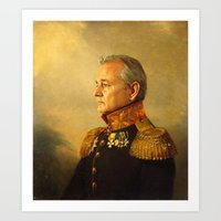 iron man Art Prints featuring Bill Murray - replaceface by replaceface