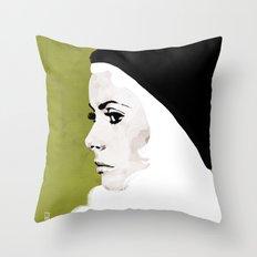 Catherine Deneuve Throw Pillow