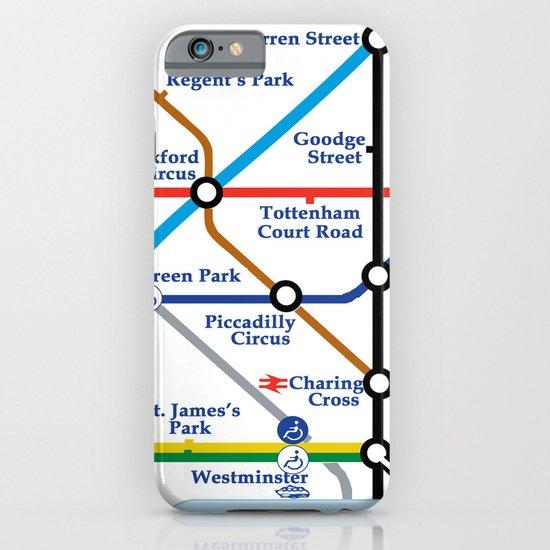 London Map iPhone & iPod Case