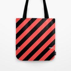 Infrared Lines / Black Tote Bag