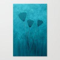 Tall Poppies -Blue Canvas Print