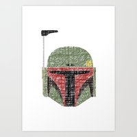 Lines of Boba Fett Art Print