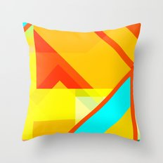 bipolar yellow Throw Pillow