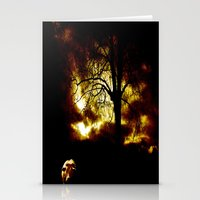 Cow In Storm Stationery Cards