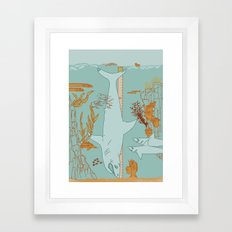 Oh boy Framed Art Print