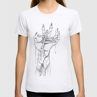 DeathCross Womens Fitted Tee Ash Grey SMALL