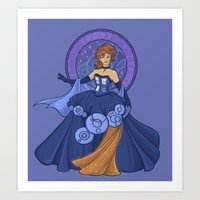Gallifreyan Girl Art Print