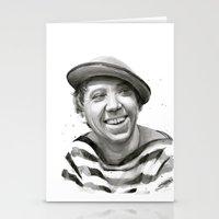 Yuriy Nikulin Portrait Watercolor | Юрий Никулин портрет Stationery Cards