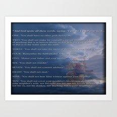 10 Commandments  Art Print