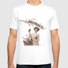 Mademoiselle skull SMALL White Mens Fitted Tee