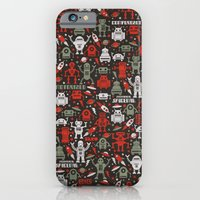 iPhone & iPod Case featuring Vintage Robots by Jacopo Rosati
