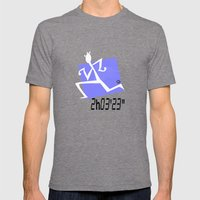 Marathon record time Mens Fitted Tee Tri-Grey SMALL