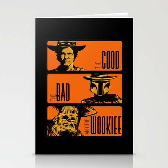 The Good, the bad and the wookiee Stationery Card