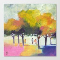 Promenade At The Park. Canvas Print